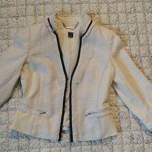 White/Black dress jacket. White with Black trim.